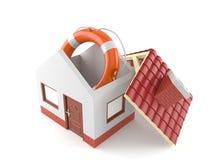 House with life buoy Royalty Free Stock Photos