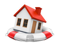 House in Lifebuoy Isolated Royalty Free Stock Photos