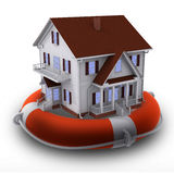 House on lifebuoy Royalty Free Stock Photos