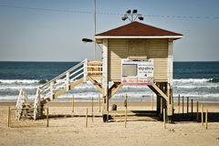 House of lifeguard in Tel Aviv beach, Israel Royalty Free Stock Image