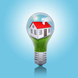 House in the light bulb Royalty Free Stock Photography