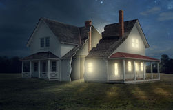 House with light and darkness Stock Image