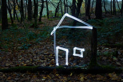 House of light in forest Stock Image