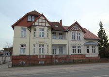 House listed as monument in Greifswald, Mecklenburg-Vorpommern, Germany stock photo