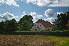 House listed as monuments in Kirchdorf, Mecklenburg-Vorpommern, Germany Royalty Free Stock Photo