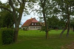 House listed as monuments in Kirchdorf, Mecklenburg-Vorpommern, Germany Stock Photo