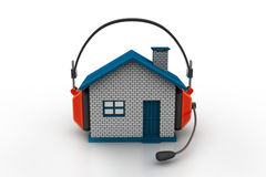 House listening to music Stock Photos