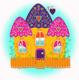 House. Little fabulous festive gingerbread house Royalty Free Stock Photos