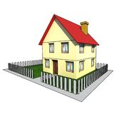 House with little garden Royalty Free Stock Image