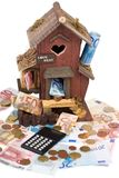 House loan. Building a house is expensive Stock Photography