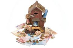 House loan 2. Building a house is expensive Stock Photos