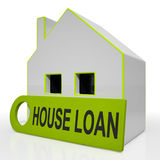 House Loan Home Shows Credit Borrowing Royalty Free Stock Photos