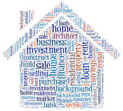 House loan issues info-text Stock Photos
