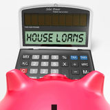 House Loans Calculator Shows Mortgage And Bank Royalty Free Stock Photography
