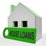 House Loans Home Means Mortgage Interest And Repay Stock Image