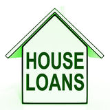 House Loans Home Means Mortgage On Property Royalty Free Stock Photo