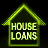 House Loans Homes Means Mortgage On Property Stock Photos