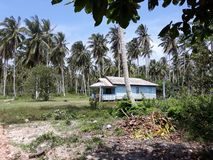 House of local residents, Natuna, Indonesia stock photo