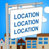 House Location Means Property Residence And Housing Stock Image
