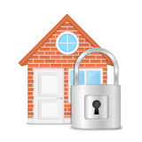 House with Lock Royalty Free Stock Photos
