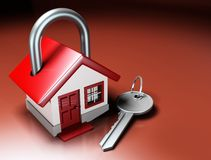 House Lock and Key Stock Image