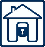 House and lock silhouette Royalty Free Stock Photo
