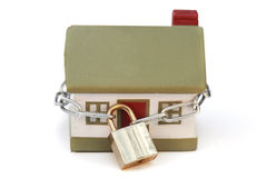 House and lock Royalty Free Stock Image