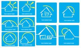House logo. Set of house logo, created with Adobe Illustrator stock illustration