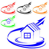 House logo. The color. Vector illustration Royalty Free Illustration