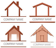 House Logo. A house and home logo set Stock Photos