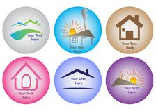 House logo collection Royalty Free Stock Photo