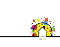 House logo design with place for text. Home Sweet Home Royalty Free Stock Photo
