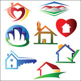 House logo design set Stock Image