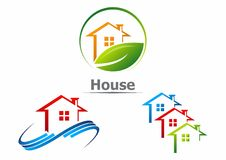 House logo. Housing building icon vector logo stock illustration