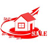 House logo sale. Vector illustration Vector Illustration