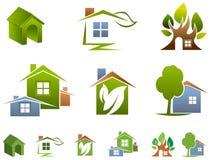House logo set. Isolated illustrated house logo set Royalty Free Stock Images