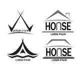 House logo, sign set Royalty Free Stock Photography
