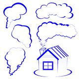 House logo with a smoke royalty free stock photo