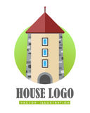 House Logo Vector Illustration Web Button Icon Royalty Free Stock Images