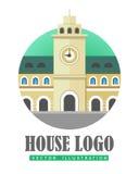 House Logo Vector Illustration Web Button Icon Royalty Free Stock Photos