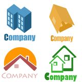 House logos. This ig logo with symbol house Royalty Free Stock Photos