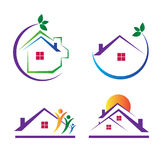 House logos. Decorative house designs used for real estate purpose Stock Photography