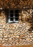House and logs Royalty Free Stock Image
