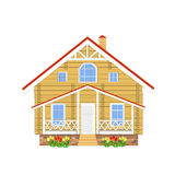 House of logs, illustration Royalty Free Stock Images
