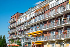 House with a lot of balconies Stock Photography