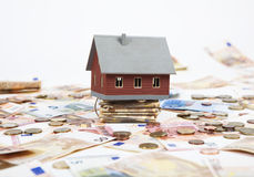 House with a lot of money Stock Photography