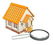 House and loupe Royalty Free Stock Photo