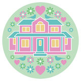 House of Love and Happiness Royalty Free Stock Photo