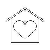 House love heart beauitful card outline Stock Images