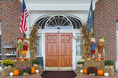 House in Luray Virginia all prepared for Halloween. Halloween decorations outsid e a house in Virginia Royalty Free Stock Photos